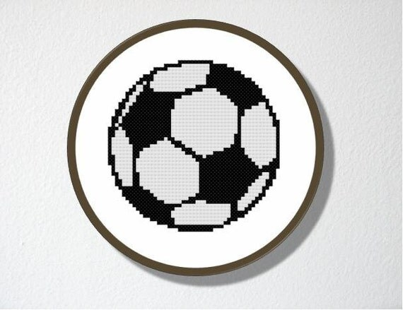 Counted Cross stitch Pattern PDF. Soccer. Includes easy beginners instructions.