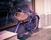 Purple vintage bicycle photography print, 5x7 inch - Bicycle