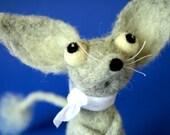 Ripley the Jerboa / needle felted art toy