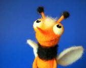 Alice the Bee / needle felted art toy