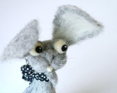 Reserved / Bunny Harvey / needle felted art toy