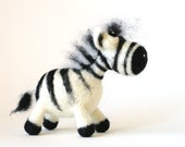 Rodrigo the Zebra / needle felted art toy