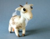 Juliette the Goat / needle felted art toy