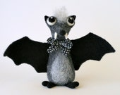 Giuseppe the Bat / needle felted art toy
