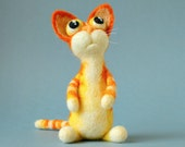 Andrew the Cat / needle felted art toy