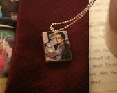 office boy - ianto jones torchwood upcycled comic pendant