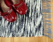 Hand Woven Rug - Grey Zebra