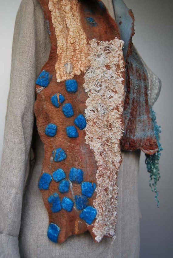 Gorgeous hand felted scarf