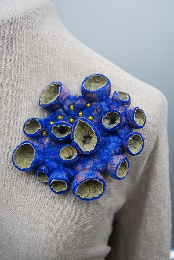 Fabulous hand felted brooch