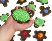 Turtle Memory Game - Crocheted Turtles Colors Learning Set - *Pattern Also Available*