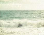 fine art photography - waves on the beach 8x10 (custom sizes available)