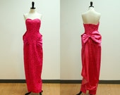 vintage// 1980s Does 1950s Dress 5871