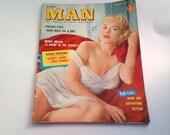 FREE SHIPPING Vintage Modern Man, Pin Up Girl Magazine August 1957