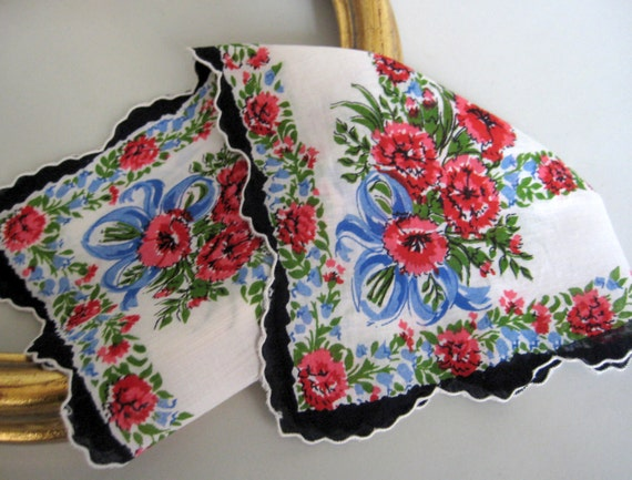 Handkerchief Hankie Hanky, Ladies Vintage
