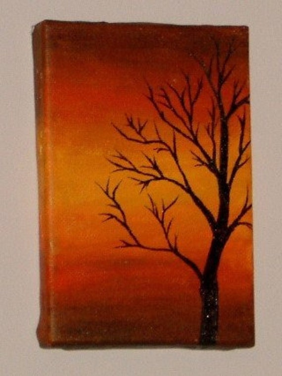 items similar to tree silhouette during sunset original