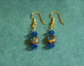 MHYO Handmade Earrings Blue Green and Gold Tone Beach Wedding Jewelry Holiday Special Occasion Gifts Ideas Christmas Birthday Anniversary
