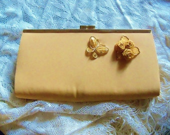 Purse Gold Clutch Redesigned Assemblage Wedding Accessories Bridal Party Prom Wedding Gift for Her
