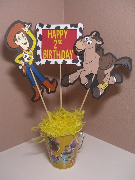 Woody And Bullseye Toy Story Centerpiece By Kustomcardsandmore
