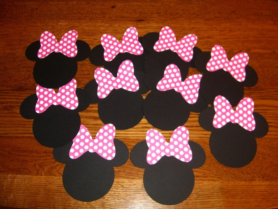 Minnie Mouse Pink Bow Template Minnie mouse 3inch heads