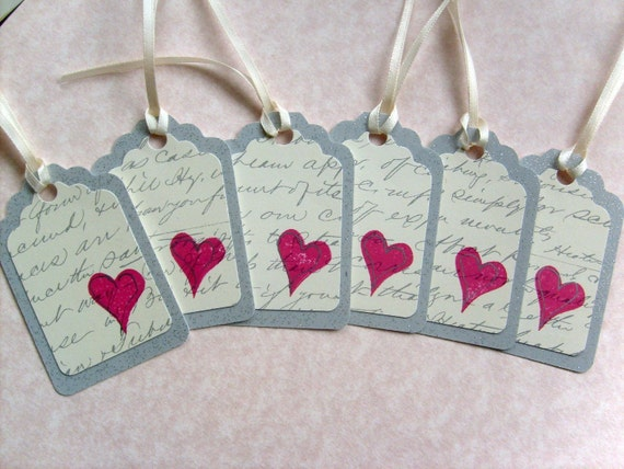 Shimmer Silver Wedding Gift tags/ Romantic Whimsical Gift Tags/ Just Simply Handmade/Bridal Shower Gift tags/ Ivory Satin Ribbon