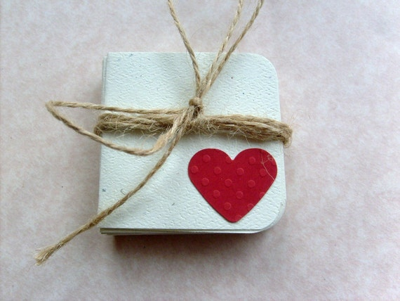 2 X 2 Mini Note Cards, Red Heart Note Cards,Blank Inside Gift cards, Mini Note Card Set with Envelopes, I love You Note Cards