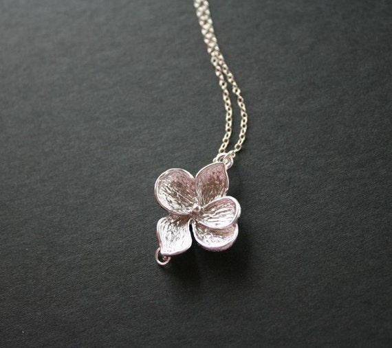 Jewelry Silver flower petals necklace - mothers day gifts, gift for mom daughter sister wife