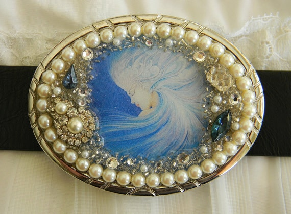 SALE  75% OFF   Womens Belt Buckle Windswept Ocean Goddess