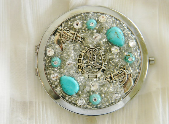 Compact Mirror Western Glam