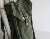 1959 Army Treasure Map Holder, Green Canvas Messenger Bag