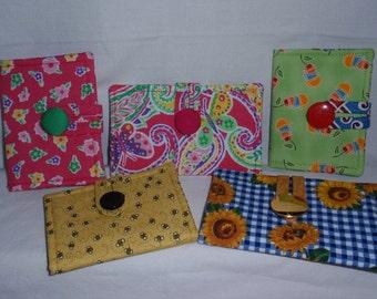 Tea Bag Wallet Cotton Print Fabric Small