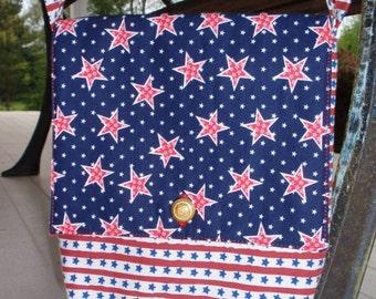 Shoulder Bag Americana Stars and Stripes Patriotic July 4th Bag