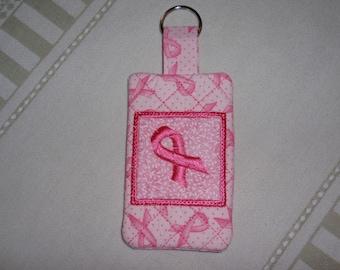 Pink Ribbon Key Fob Key Chain