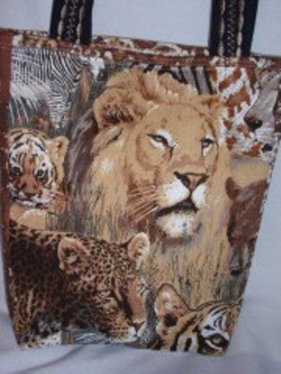 Safari Big Cats Quilted Tote Bag Sale 25% off