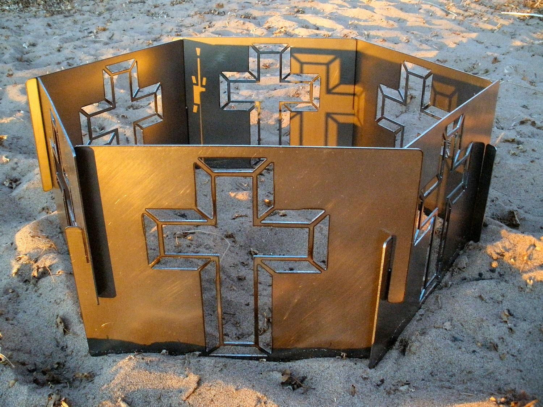 Portable Metal Fire Pit : Decorative portable metal fire pit cross