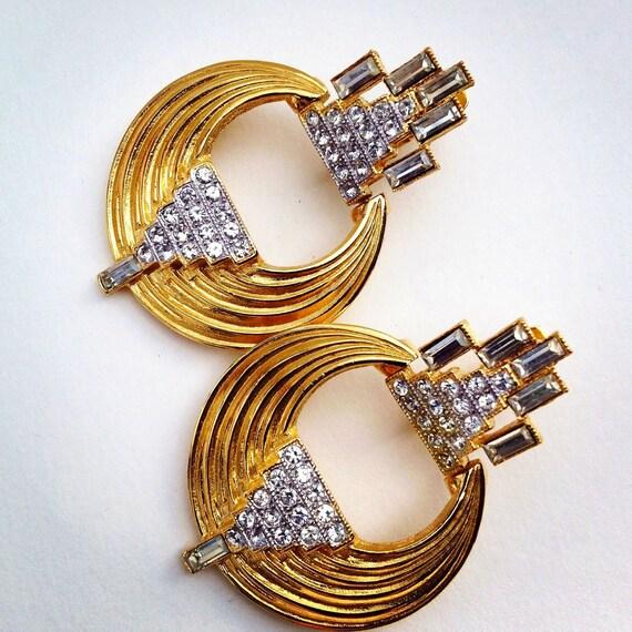 givenchy earrings /  geometric earrings /  designer vintage