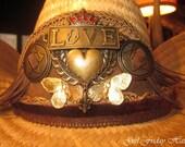 L-O-V-E Embellished Handmade Designer Cowboy Hat