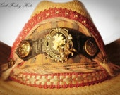 Romantic Old West Steampunk Style Embellished Cowgirl Hat