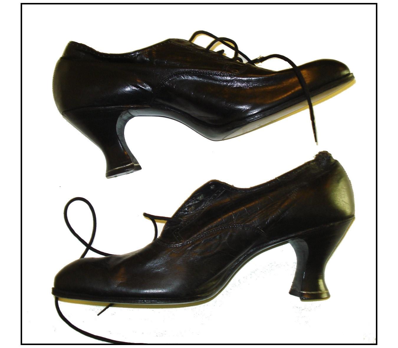 Authenic 1800s Shoes Boots Nos Victorian Edwardian Lace Up