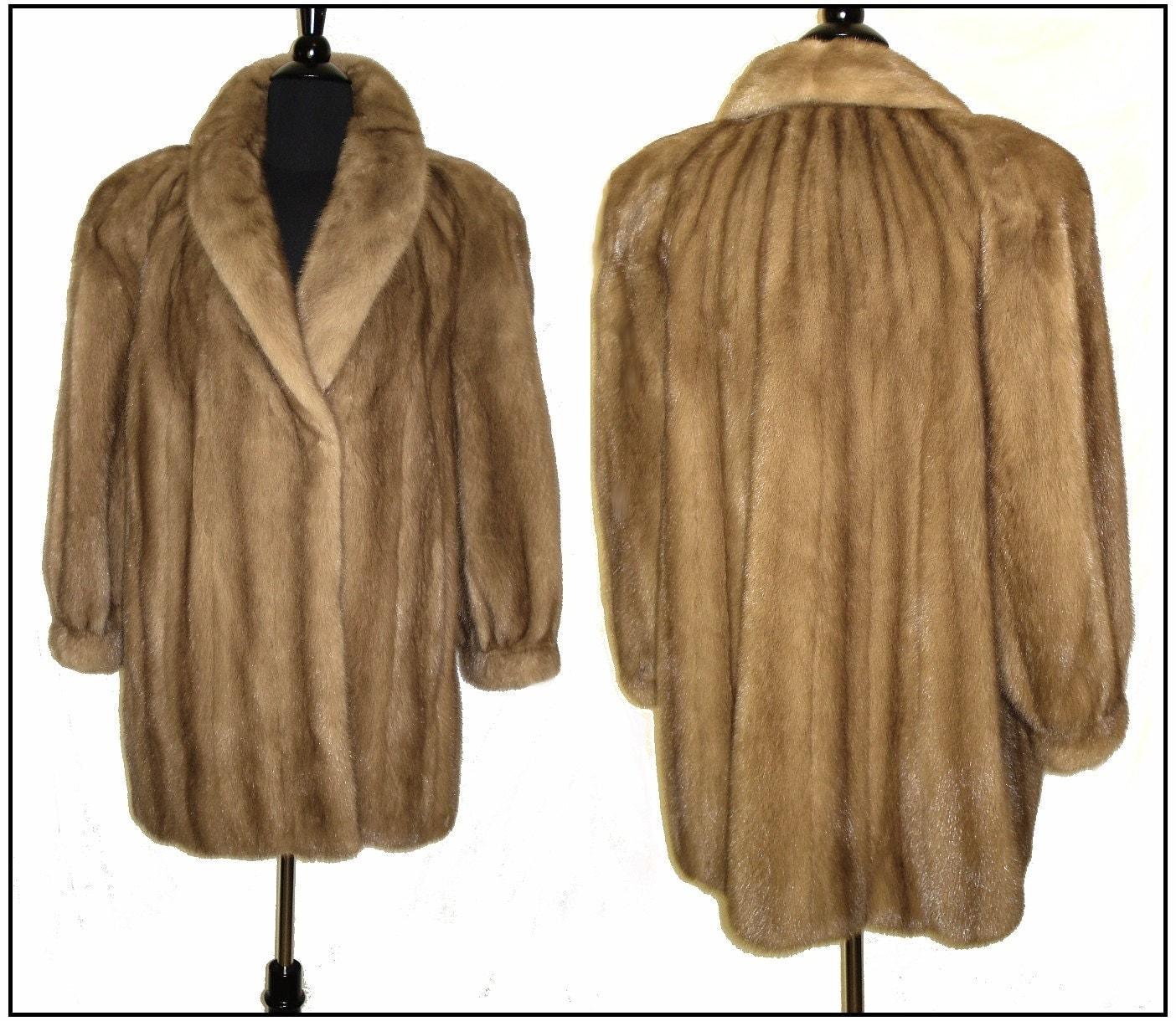 Reserved Vintage Mink Coat . Real Fur . Stroller Pastel Demi