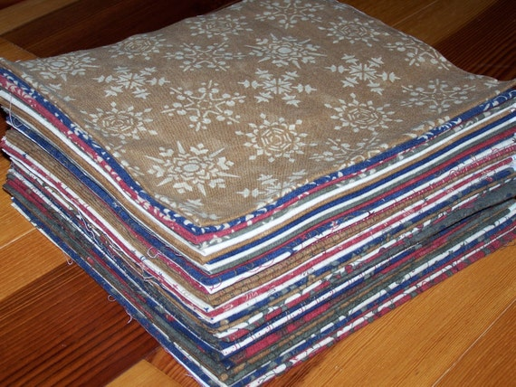 37 Christmas Xcitement Brushed Flannel Fat Quarters by Sandy Gervais for Moda Fabric Primitive Myra Barnes Busy Hands Quilts