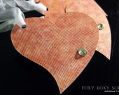 Gift Tags: Heart and Crystal - set of 5