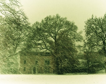 Christmas Photography -Snowglobe - A fine art photograph of a snow scene in England