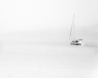 "Travel photography, minimalist home decor, sailing print - ""The Sea, The Sea"""