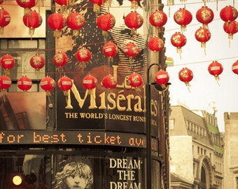 "Travel photography, London art print, lanterns, Chinatown - ""Dream the Dream"""