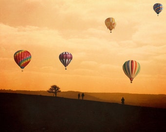 """Hot Air Balloon Photography, large art print, travel photography - """"The Journey Home"""""""