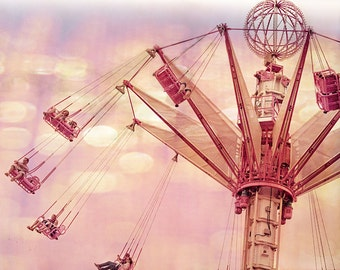 Paris Carnival Photograph - You Spin Me - Fine Art Photography Print of Carnival Ride in Paris, France