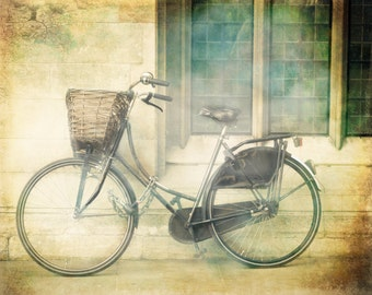 "London Photography, Bicycle art print, travel photography, Bike print - ""Ride Away"""