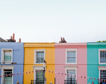 "Notting Hill houses, London print, London travel photography, large photography - ""Good Morning, Notting Hill"""
