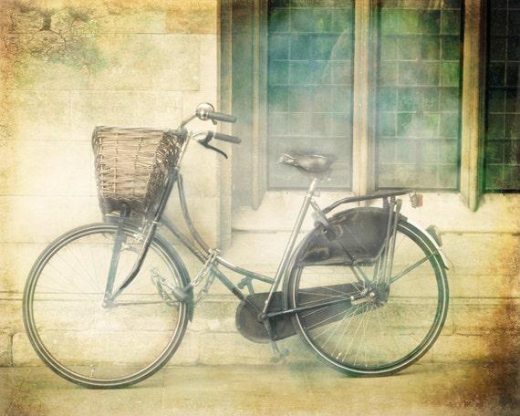 "London Photography, Bicycle art print, travel photography, Bike print - ""Ride Away"""