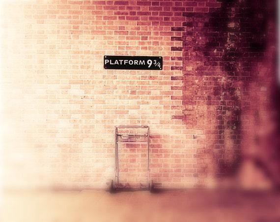 """Harry Potter print, Platform 9 3/4, Harry Potter art - """"Return to Hogwarts"""""""